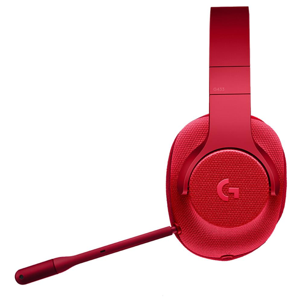 on-ear-over-ear-headphones Logitech G433 Gaming Headset Wired 7.1 Surround Sound Channel - Red Logitech G433 Gaming Headset Wired 7 1 Surround Sound Channel Red 4