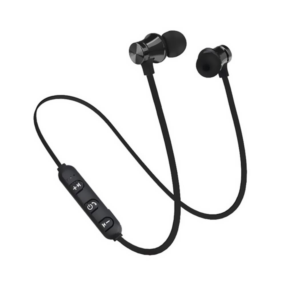 earbud-headphones-Magnetic Bluetooth Sports Earphones - Black-Magnetic Bluetooth Sports Earphones Black