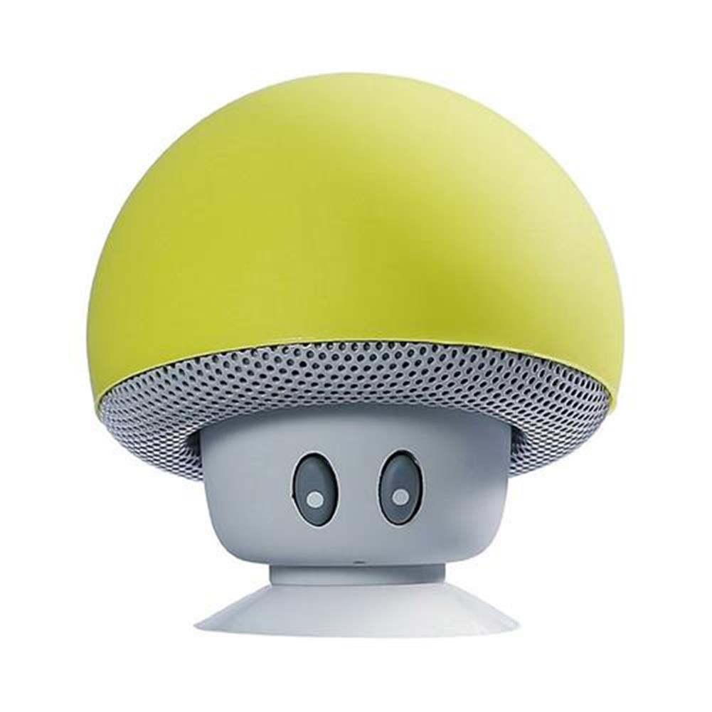 bluetooth-speakers Mini Wireless Bluetooth Mushroom Speaker with Mic Water-resistant Heavy Bass Stereo Music - Yellow Mini Wireless Bluetooth Mushroom Speaker with Mic Water resistant Heavy Bass Stereo Music Yellow