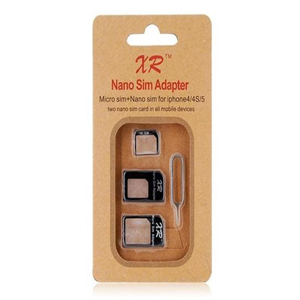 sd-card Nano SIM Four-In-One Kit For IPhone 4 And 4S / Iphone 5 - Black Nano SIM Four In One Kit For IPhone 4 And 4S Iphone 5 Black