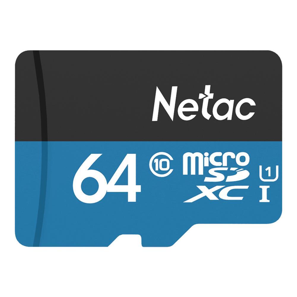 microsd-tf-card-Netac P500 64GB Micro SD Card Data Storage TF Cards - Blue-Netac P500 64GB Micro SD Card Data Storage TF Cards Blue