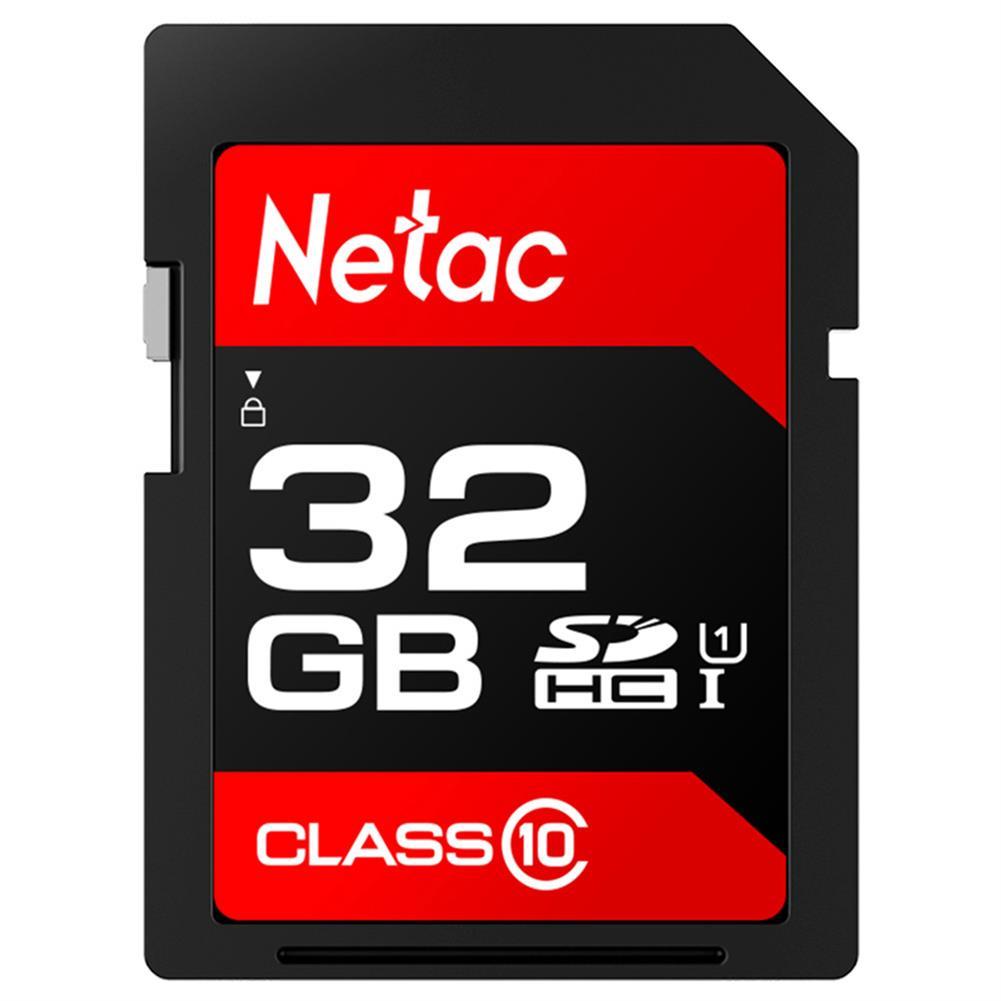 sd-card-Netac P600 32GB SD Card UHS-I Class 10 SDHC Read Speed 80MB/s - Black-Netac P600 32GB SD Card UHS I Class 10 SDHC Read Speed 80MB s Black