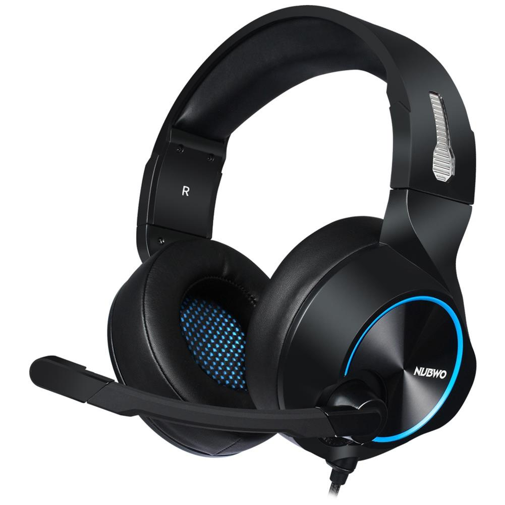 on-ear-over-ear-headphones Nubwo N11D Gaming Headset with Mic 3.5 mm Interface Wire Control Headphones - Black Blue Nubwo N11D Gaming Headset with Mic 3 5 mm Interface Wire Control Headphones Black Blue