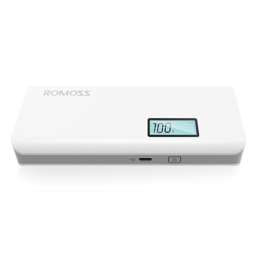 power-bank-Original ROMOSS Sense4 Plus Dual USB 10400mAh Power Bank Mobile Power Charger with Digital Display - White-Original ROMOSS Sense4 Plus Dual USB 10400mAh Power Bank Mobile Power Charger with Digital Display White