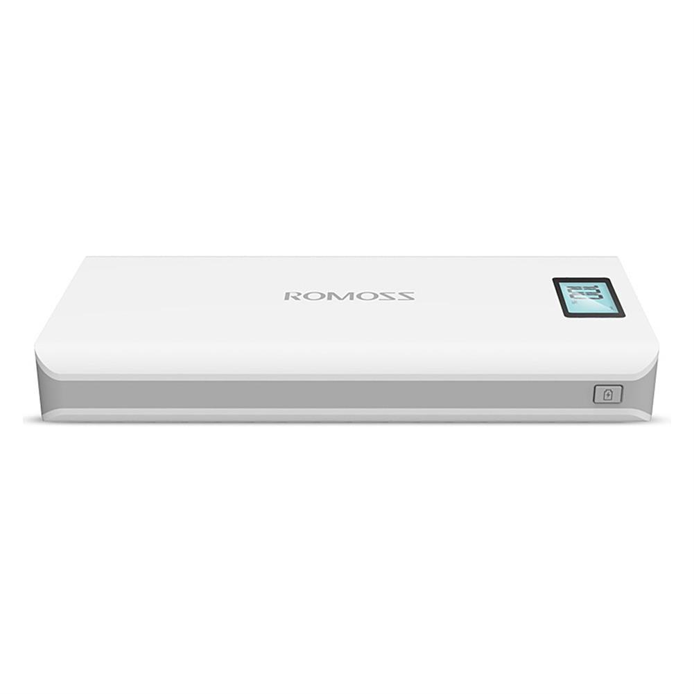 power-bank-Original ROMOSS Sense6 Plus Dual USB 20000mAh Power Bank Mobile Power Charger with Digital Display - White-Original ROMOSS Sense6 Plus Dual USB 20000mAh Power Bank Mobile Power Charger with Digital Display White