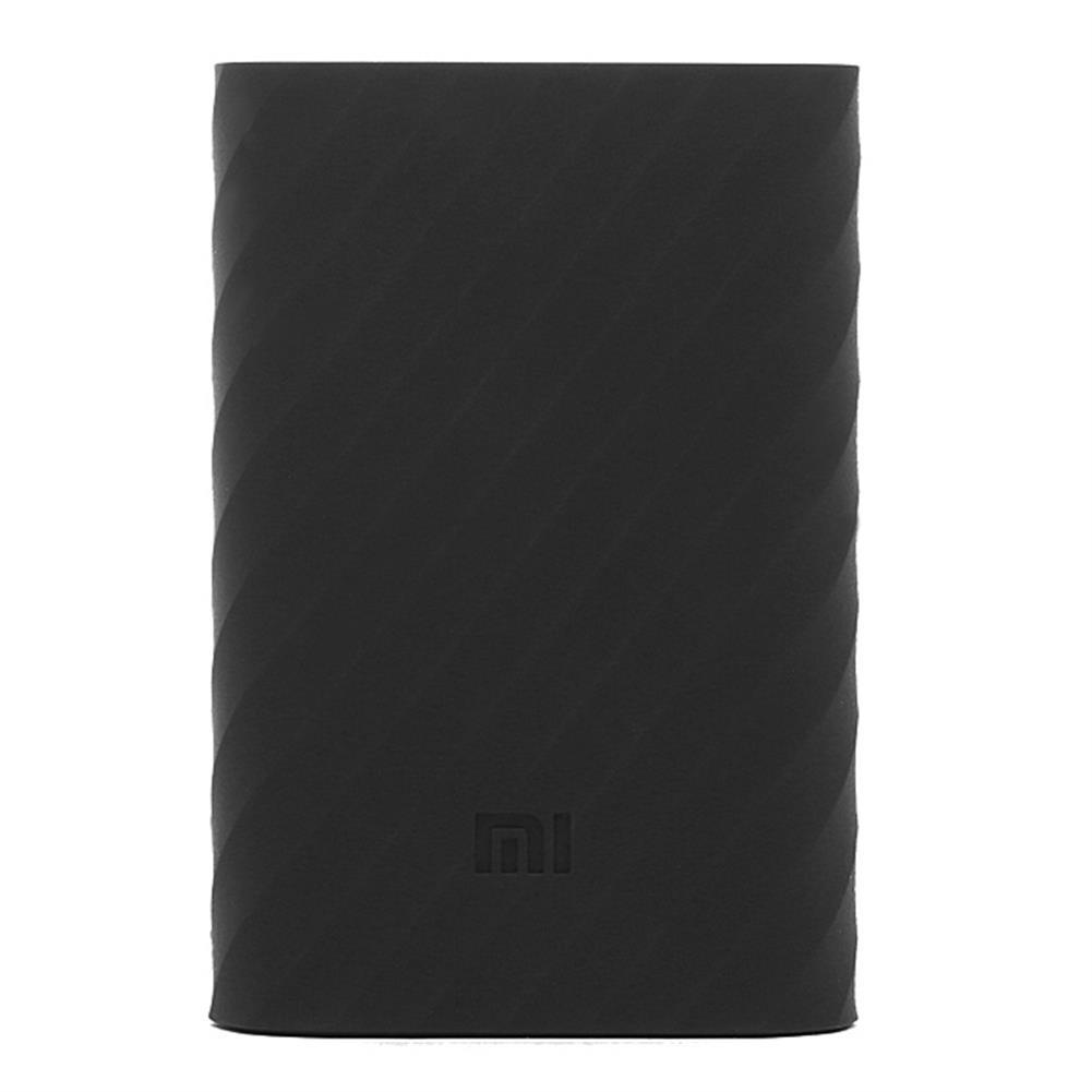 power-bank-Original Xiaomi 10000mAh Power Bank Silicone Case Charger Protector Cover - Black-Original Xiaomi 10000mAh Power Bank Silicone Case Charger Protector Cover Black