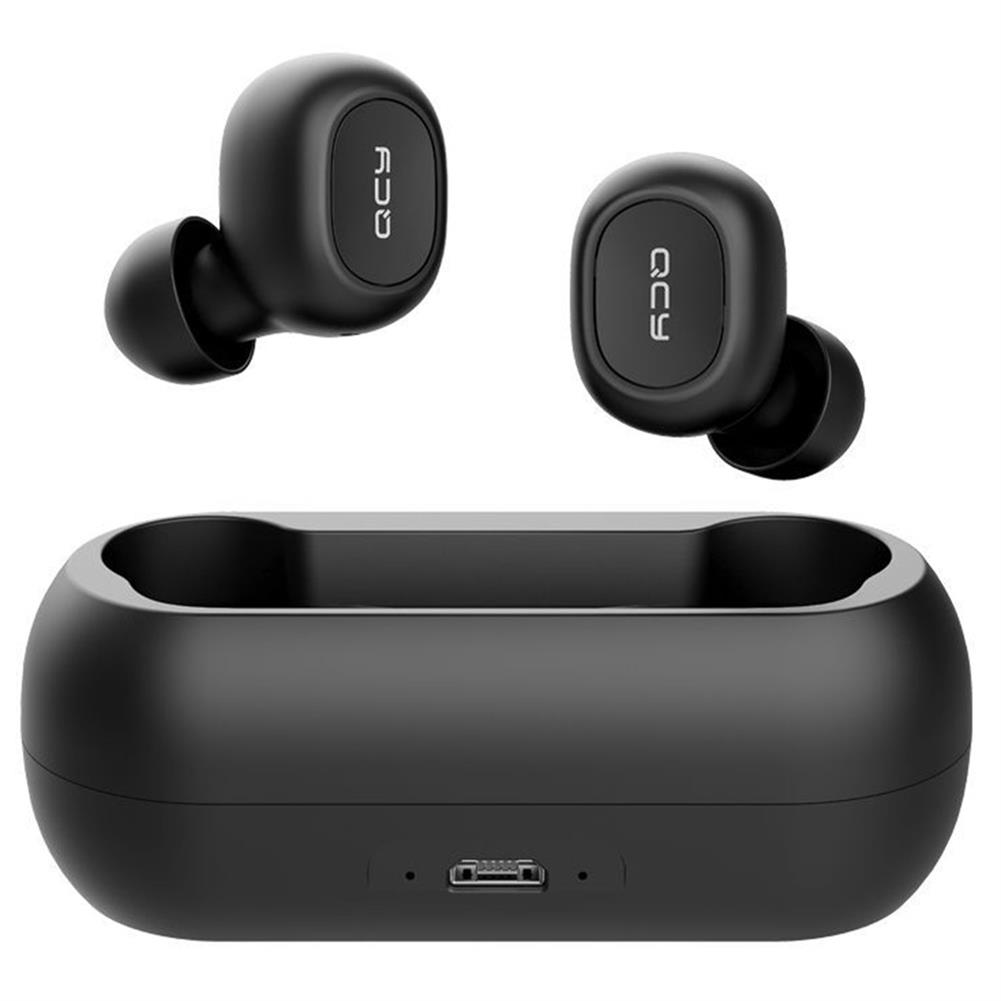 earbud-headphones-QCY T1C TWS Dual Bluetooth 5.0 Earphones with Mic Charging Box Noise Reduction - Black-QCY T1C TWS Dual Bluetooth 5 0 Earphones with Mic Charging Box Noise Reduction Black