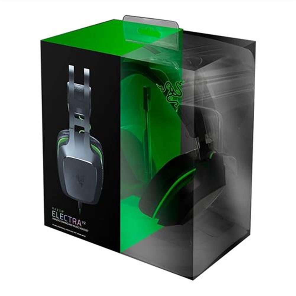 on-ear-over-ear-headphones Razer Electra V2 3.5mm Gaming Headset 7.1 Surround Sound with Detachable Mic for PC/Xbox One/PS4 - Black Razer Electra V2 3 5mm Gaming Headset 7 1 Surround Sound with Detachable Mic for PC Xbox One PS4 Black 3