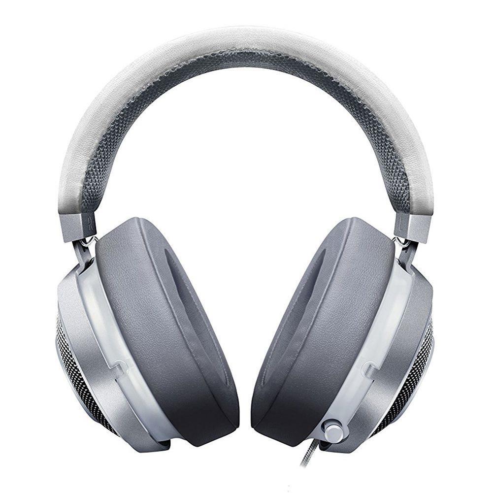 on-ear-over-ear-headphones Razer Kraken 7.1 Chroma V2 USB Gaming Headset with Retractable Digital Microphone and Chroma Lighting - Mercury White Razer Kraken 7 1 Chroma V2 USB Gaming Headset with Retractable Digital Microphone and Chroma Lighting Mercury White 2