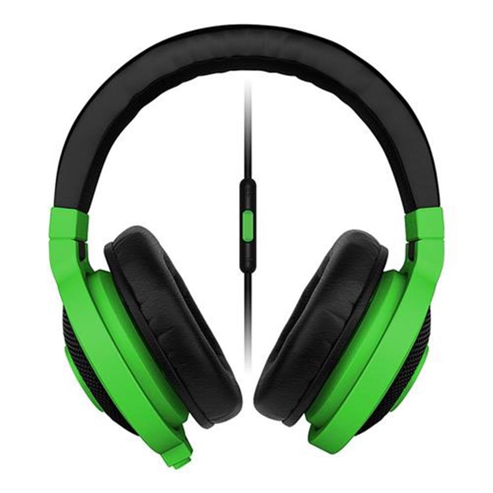 on-ear-over-ear-headphones Razer Kraken Mobile Analog Music and Gaming Headset 3.5mm with Mic - Green Razer Kraken Mobile Analog Music and Gaming Headset 3 5mm with Mic Green 1