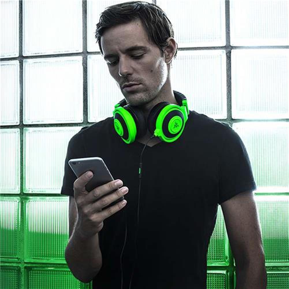 on-ear-over-ear-headphones Razer Kraken Mobile Analog Music and Gaming Headset 3.5mm with Mic - Green Razer Kraken Mobile Analog Music and Gaming Headset 3 5mm with Mic Green 4
