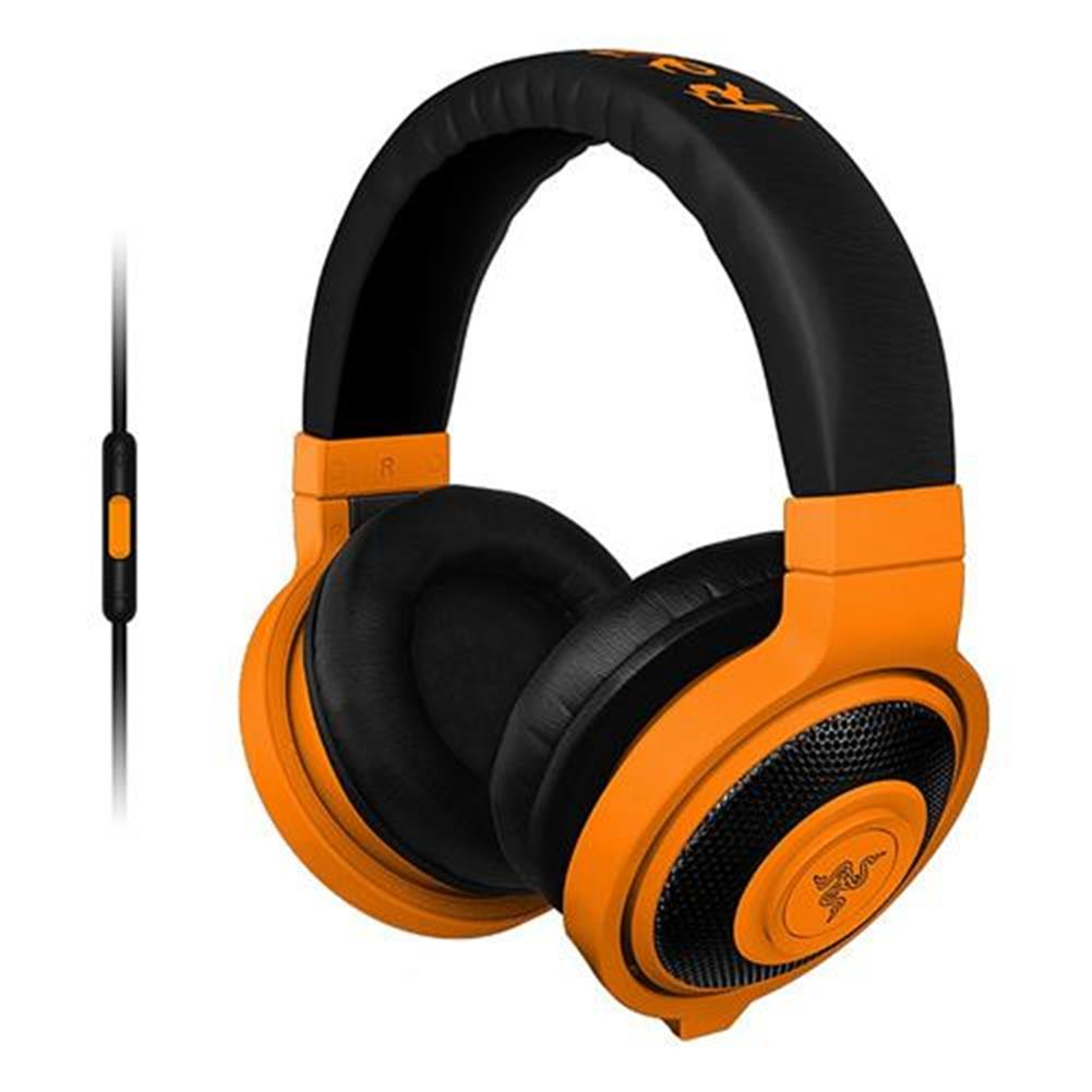on-ear-over-ear-headphones Razer Kraken Mobile Analog Music and Gaming Headset 3.5mm with Mic - Orange Razer Kraken Mobile Analog Music and Gaming Headset 3 5mm with Mic Orange