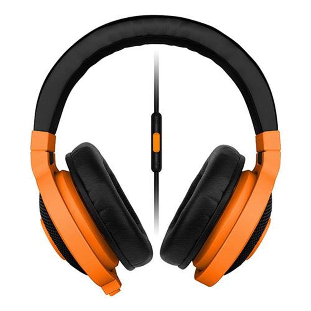 on-ear-over-ear-headphones Razer Kraken Mobile Analog Music and Gaming Headset 3.5mm with Mic - Orange Razer Kraken Mobile Analog Music and Gaming Headset 3 5mm with Mic Orange 1