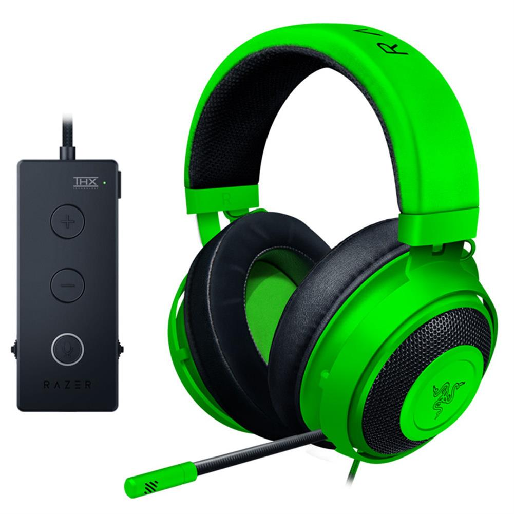 on-ear-over-ear-headphones Razer Kraken Tournament Edition Gaming Headset 3.5mm Jack Works with PC PS4 Xbox One Switch Mobile Devices - Green Razer Kraken Tournament Edition Gaming Headset 3 5mm Jack Works with PC PS4 Xbox One Switch Mobile Devices Green