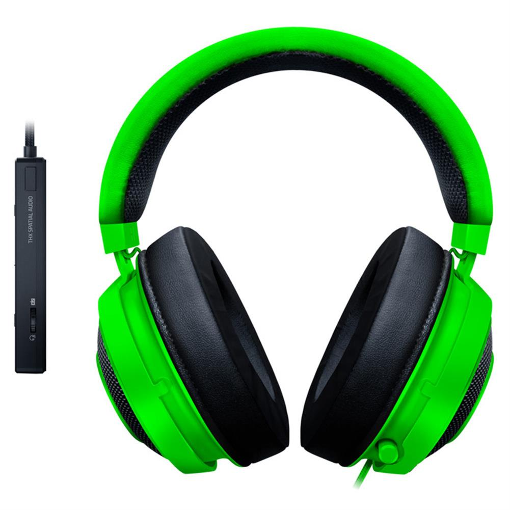 on-ear-over-ear-headphones Razer Kraken Tournament Edition Gaming Headset 3.5mm Jack Works with PC PS4 Xbox One Switch Mobile Devices - Green Razer Kraken Tournament Edition Gaming Headset 3 5mm Jack Works with PC PS4 Xbox One Switch Mobile Devices Green 1