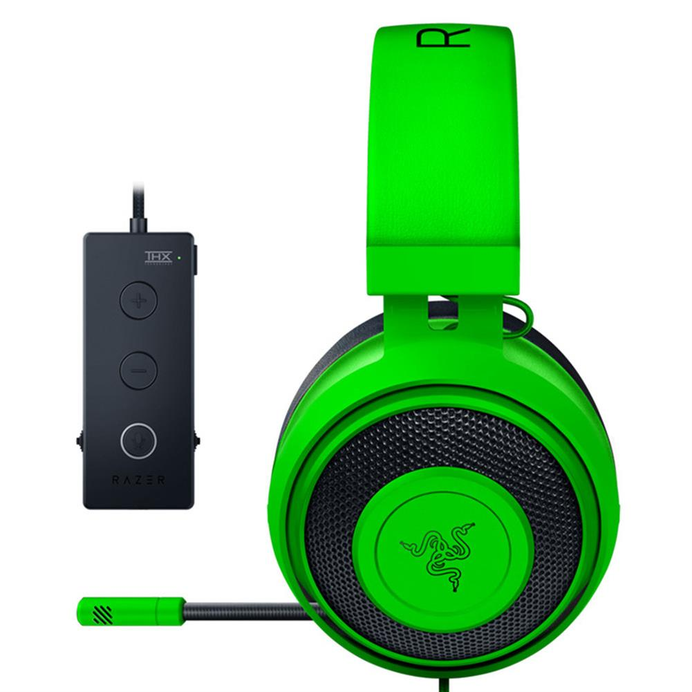 on-ear-over-ear-headphones Razer Kraken Tournament Edition Gaming Headset 3.5mm Jack Works with PC PS4 Xbox One Switch Mobile Devices - Green Razer Kraken Tournament Edition Gaming Headset 3 5mm Jack Works with PC PS4 Xbox One Switch Mobile Devices Green 2