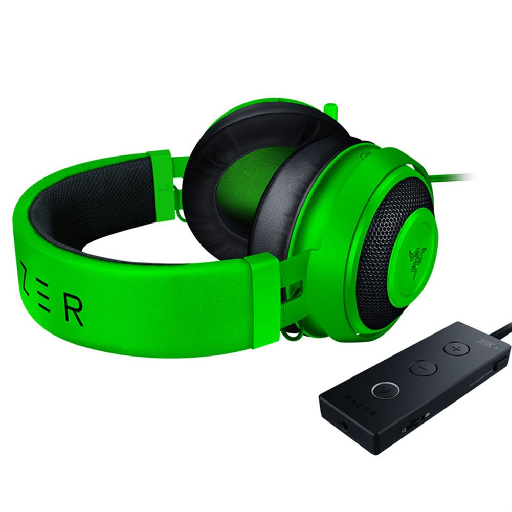 on-ear-over-ear-headphones Razer Kraken Tournament Edition Gaming Headset 3.5mm Jack Works with PC PS4 Xbox One Switch Mobile Devices - Green Razer Kraken Tournament Edition Gaming Headset 3 5mm Jack Works with PC PS4 Xbox One Switch Mobile Devices Green 3
