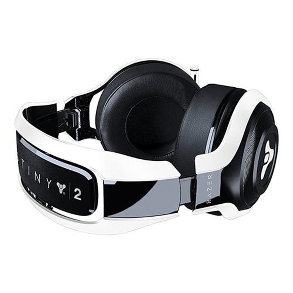 on-ear-over-ear-headphones Razer Man O'War Tournament Edition Destiny 2 Edition Gaming Headset with Mic Noise Isolating Analog - Black + White Razer Man O 39 War Tournament Edition Destiny 2 Edition Gaming Headset with Mic Noise Isolating Analog Black White 3