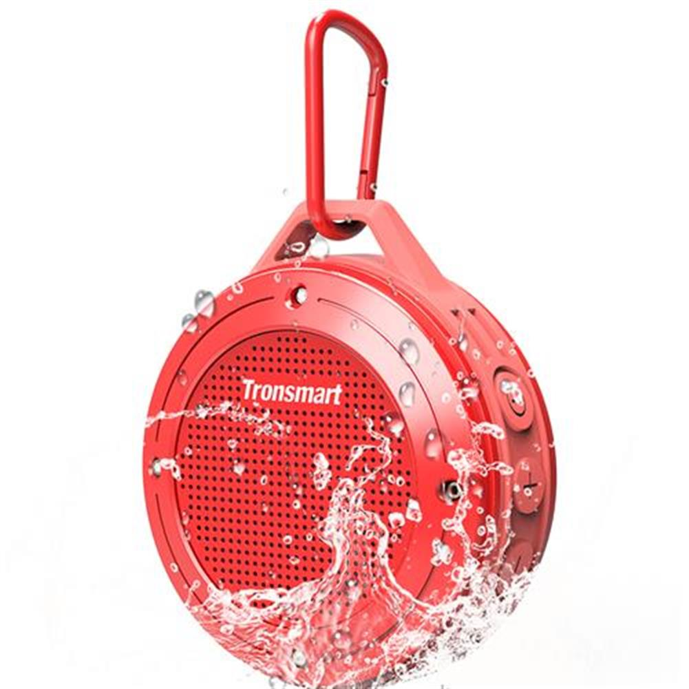 bluetooth-speakers-Tronsmart Element T4 5W Portable Bluetooth Speaker[IP67 Waterproof] with Enhanced Bass and Built-in Microphone - Red-Tronsmart Element T4 5W Portable Bluetooth Speaker IP67 Waterproof with Enhanced Bass and Built in Microphone Red