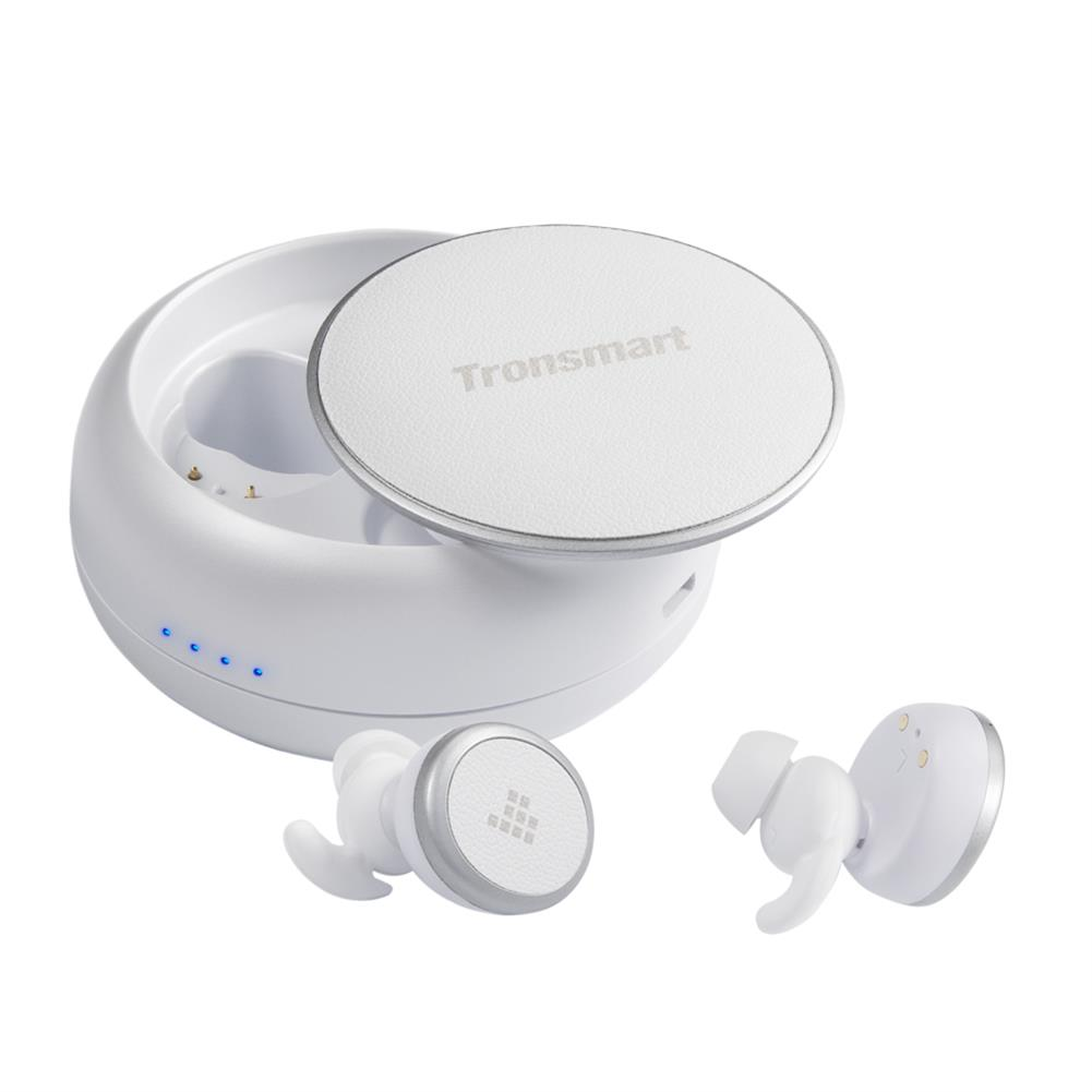 earbud-headphones-Tronsmart Encore Spunky Buds Bluetooth 5.0 TWS Earbuds 12 Hours Playtime Siri Google Assistant IPX5 Water Resistant - White-Tronsmart Encore Spunky Buds Bluetooth 5 0 TWS Earbuds 12 Hours Playtime Siri Google Assistant IPX5 Water Resistant White