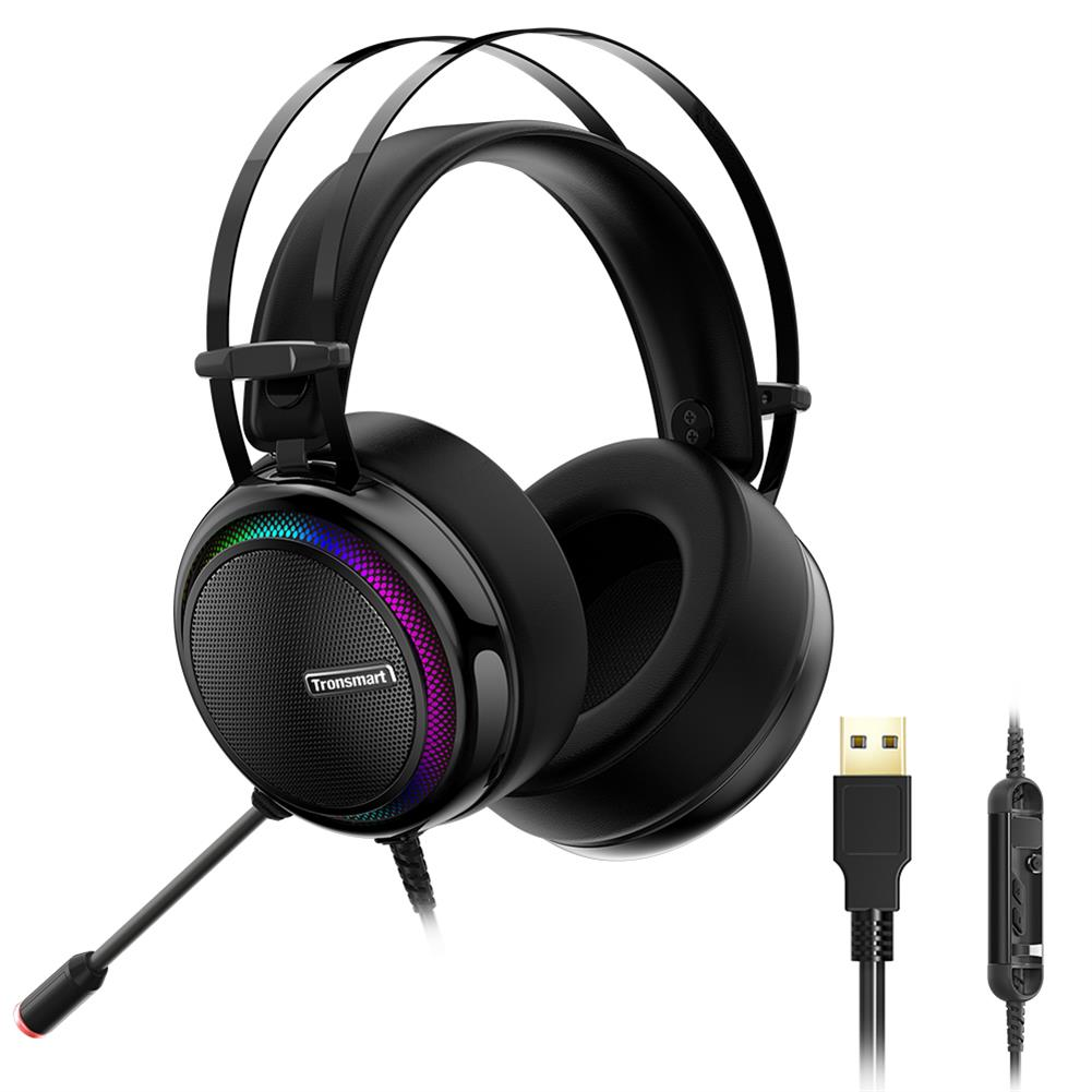 on-ear-over-ear-headphones Tronsmart Glary Gaming Headset 7.1 Virtual Surround Sound Stereo Sound with Colorful LED Lighting USB Interface Mic for PC Laptop Tronsmart Glary Gaming Headset 7 1 Virtual Surround Sound Stereo Sound with Colorful LED Lighting USB Interface Mic for PC Laptop 1