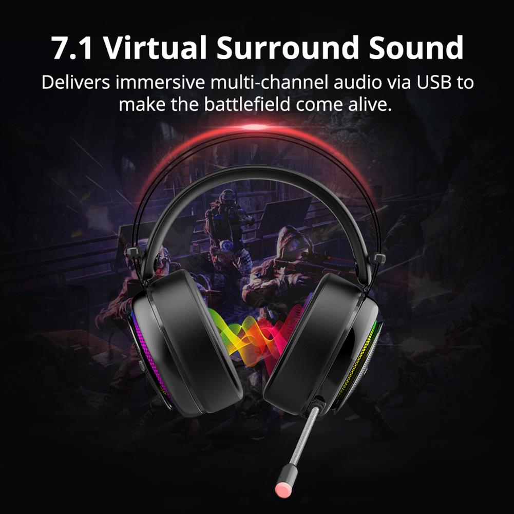 on-ear-over-ear-headphones Tronsmart Glary Gaming Headset 7.1 Virtual Surround Sound Stereo Sound with Colorful LED Lighting USB Interface Mic for PC Laptop Tronsmart Glary Gaming Headset 7 1 Virtual Surround Sound Stereo Sound with Colorful LED Lighting USB Interface Mic for PC Laptop 2
