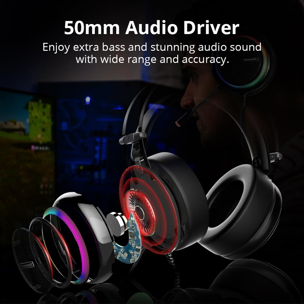 on-ear-over-ear-headphones Tronsmart Glary Gaming Headset 7.1 Virtual Surround Sound Stereo Sound with Colorful LED Lighting USB Interface Mic for PC Laptop Tronsmart Glary Gaming Headset 7 1 Virtual Surround Sound Stereo Sound with Colorful LED Lighting USB Interface Mic for PC Laptop 3