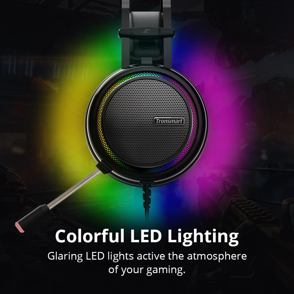 on-ear-over-ear-headphones Tronsmart Glary Gaming Headset 7.1 Virtual Surround Sound Stereo Sound with Colorful LED Lighting USB Interface Mic for PC Laptop Tronsmart Glary Gaming Headset 7 1 Virtual Surround Sound Stereo Sound with Colorful LED Lighting USB Interface Mic for PC Laptop 4