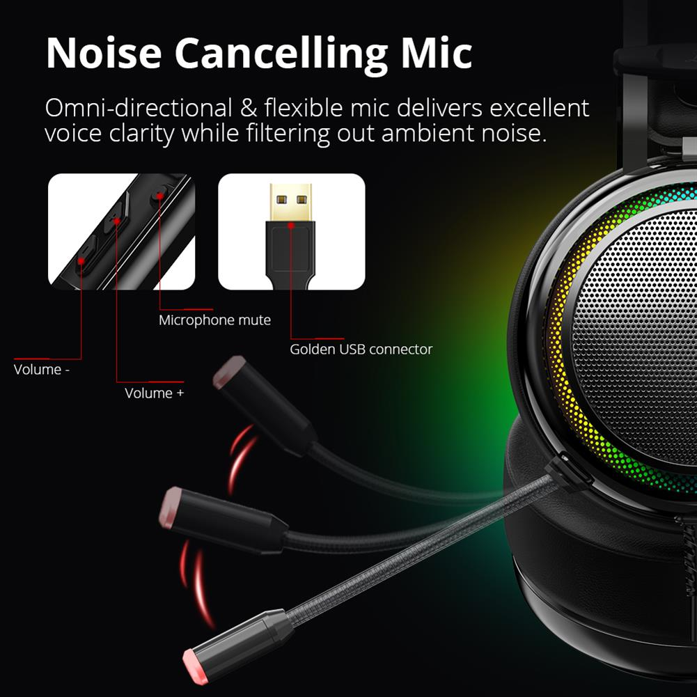 on-ear-over-ear-headphones Tronsmart Glary Gaming Headset 7.1 Virtual Surround Sound Stereo Sound with Colorful LED Lighting USB Interface Mic for PC Laptop Tronsmart Glary Gaming Headset 7 1 Virtual Surround Sound Stereo Sound with Colorful LED Lighting USB Interface Mic for PC Laptop 5