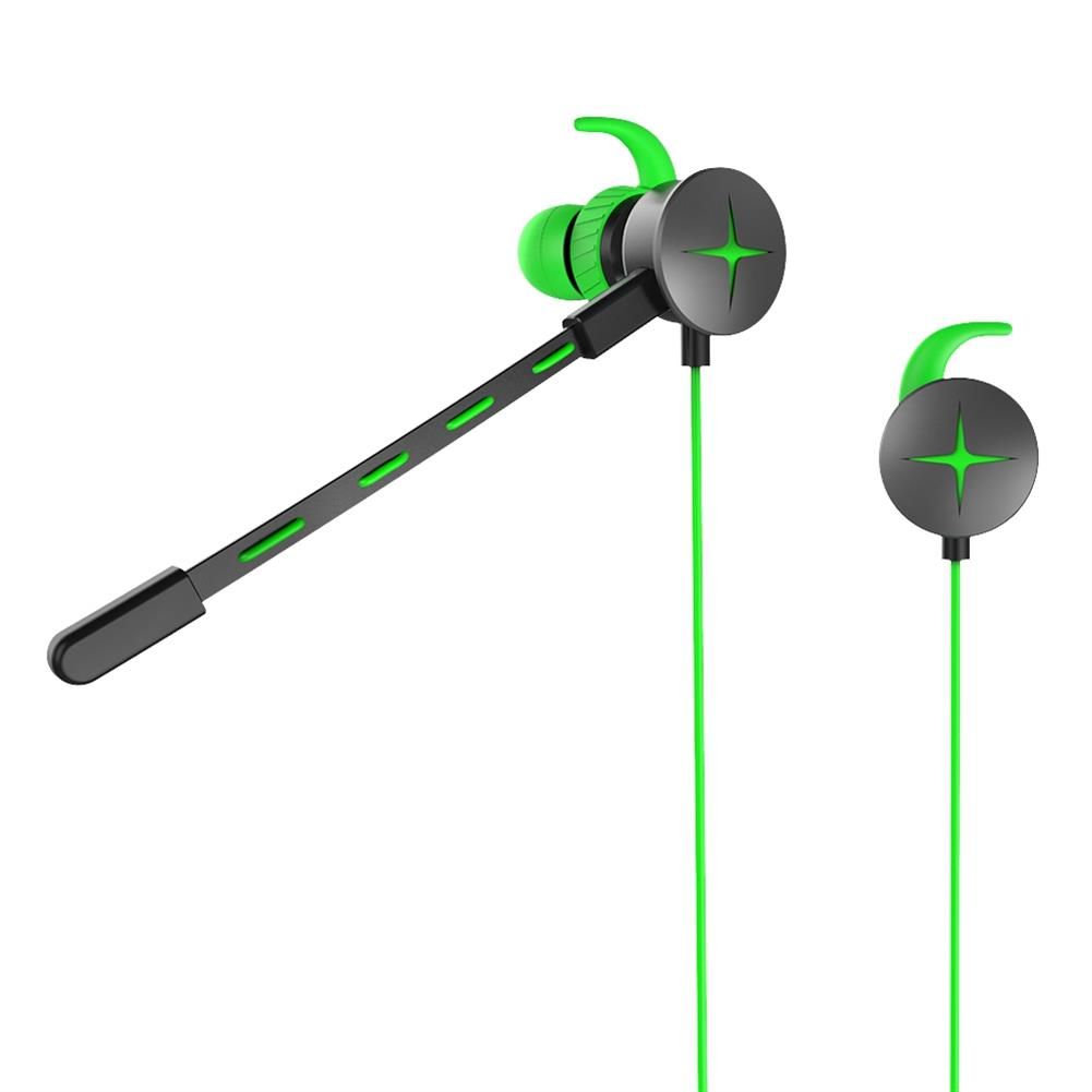 earbud-headphones-V7 Gaming In-ear Earphones with Pluggable Mic 3.5mm 1m Y Splitter Cable - Green-V7 Gaming In ear Earphones with Pluggable Mic 3 5mm 1m Y Splitter Cable Green