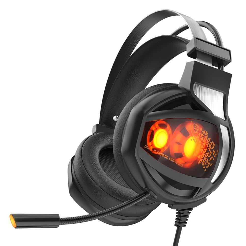 on-ear-over-ear-headphones V9 Gaming Headset USB 7.1 Surround Sound with Mic Wire Control LED Light Headphones - Black V9 Gaming Headset USB 7 1 Surround Sound with Mic Wire Control LED Light Headphones Black