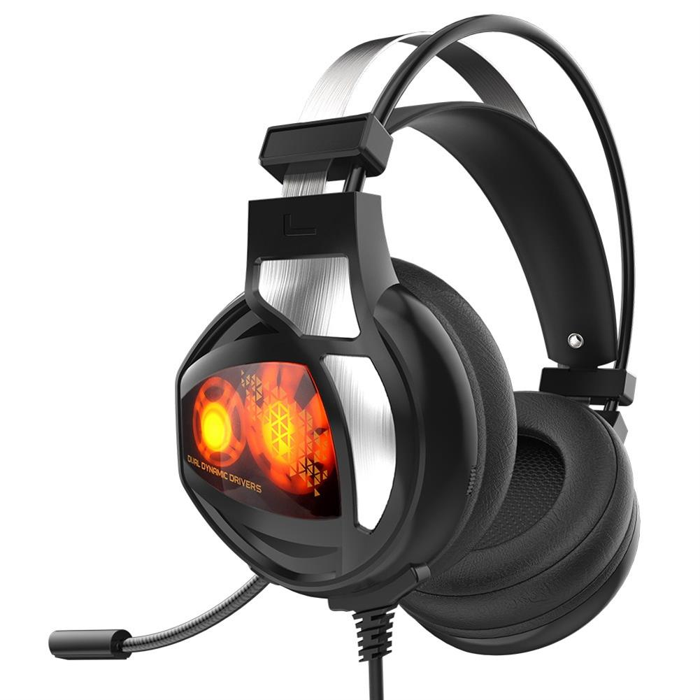 on-ear-over-ear-headphones V9 Gaming Headset USB 7.1 Surround Sound with Mic Wire Control LED Light Headphones - Black V9 Gaming Headset USB 7 1 Surround Sound with Mic Wire Control LED Light Headphones Black 3