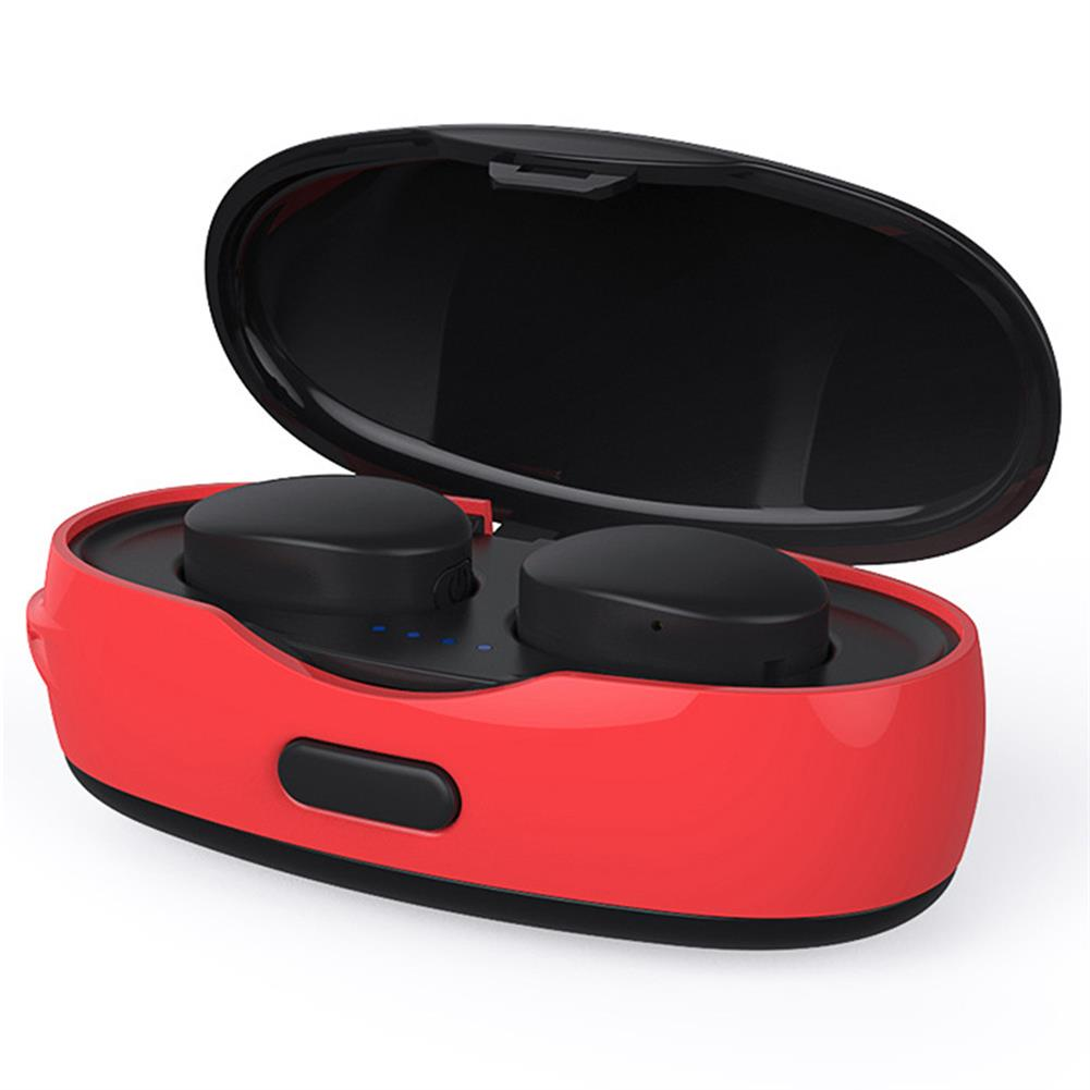 earbud-headphones-VR SHINECON TWS Bluetooth Portable Earbuds About 2.5 Hours Working Time Noise Reduction - Red-VR SHINECON TWS Bluetooth Portable Earbuds About 2 5 Hours Working Time Noise Reduction Red