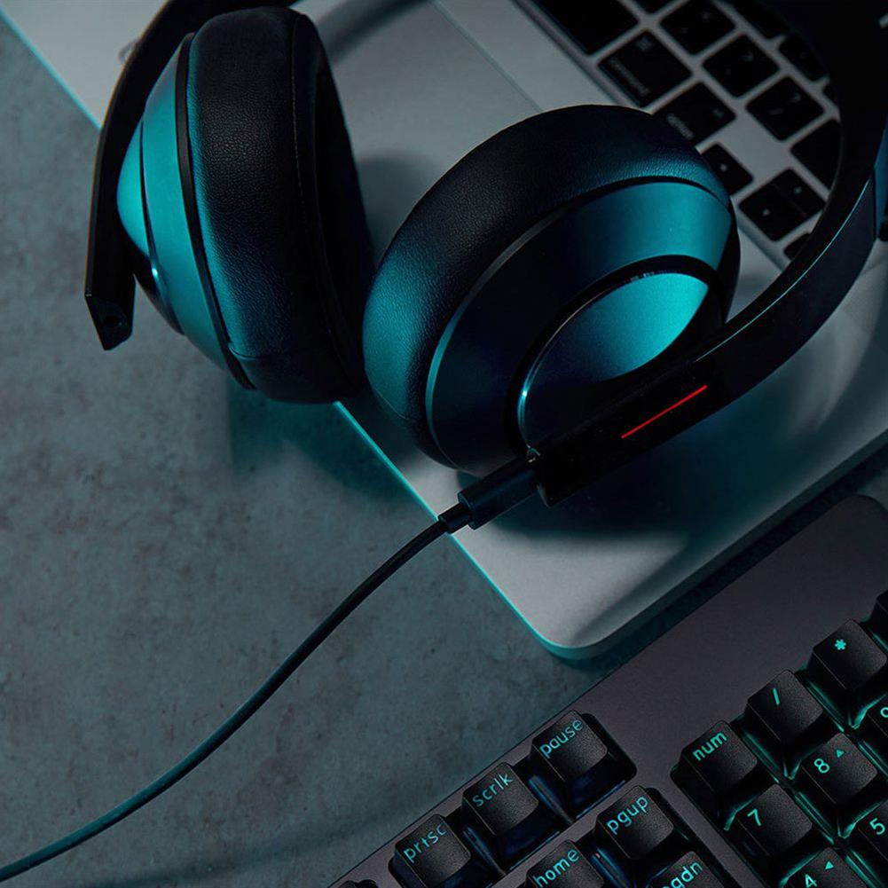 on-ear-over-ear-headphones Xiaomi Gaming Headphones Virtual 7.1 Surround Sound with 40mm Driver LED Lights - Black Xiaomi Gaming Headphones Virtual 7 1 Surround Sound with 40mm Driver LED Lights Black 1
