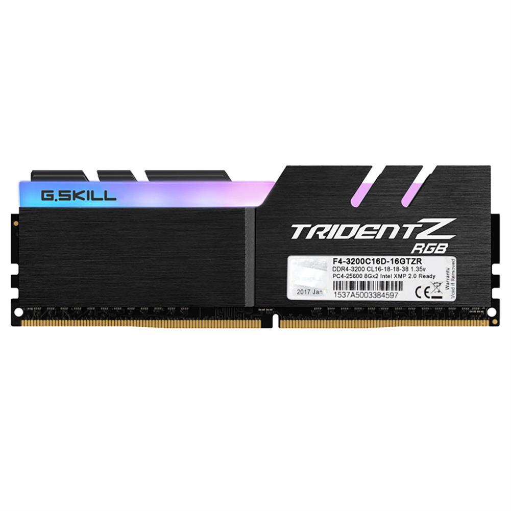 memory-modules G.SKILL TridentZ RGB Series DDR4 3200MHz 16GB (2 x 8GB) Memory Modules Kit For Desktop Computer - Black G SKILL TridentZ RGB Series DDR4 3200MHz 16GB 2 x 8GB Memory Modules Kit For Desktop Computer Black 4