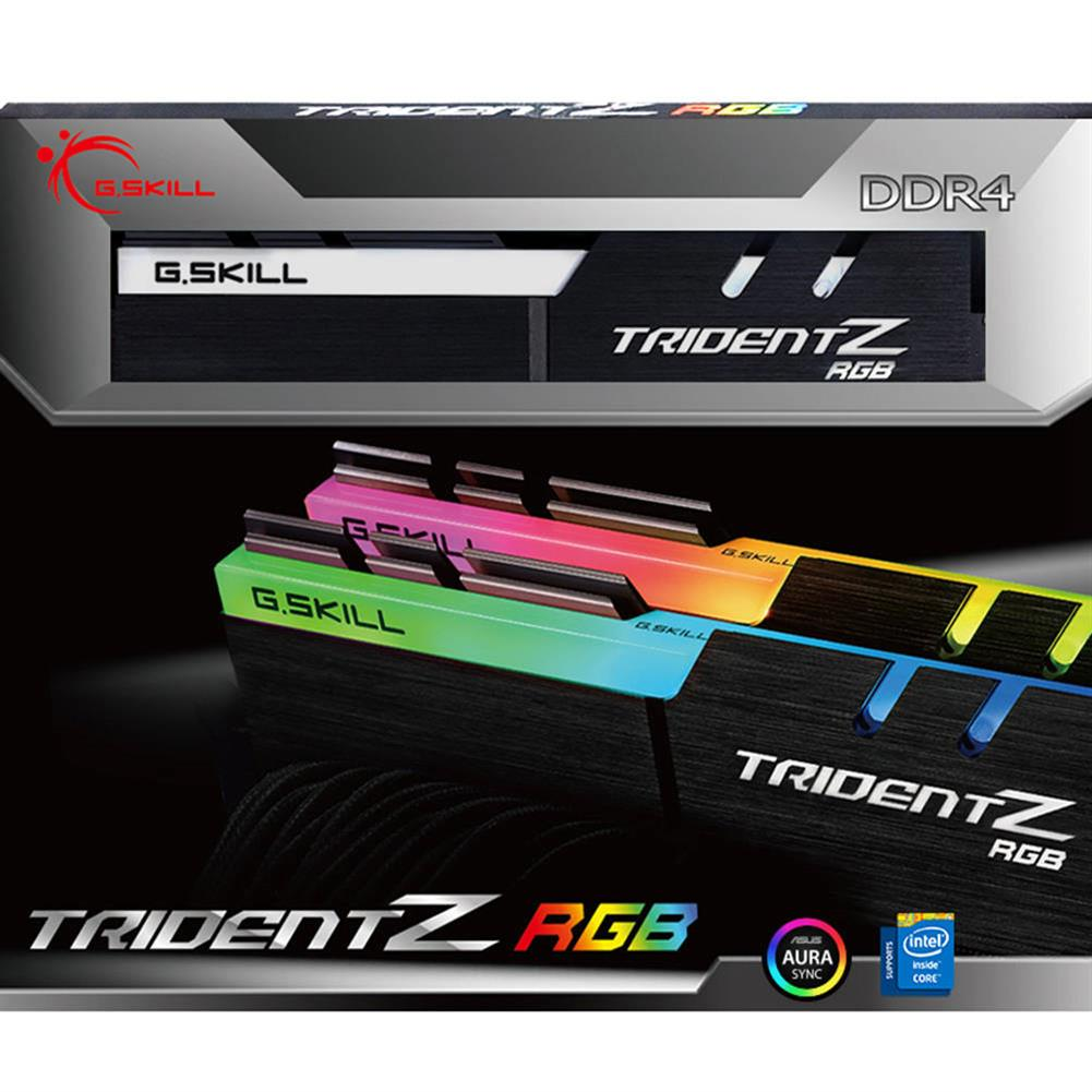 memory-modules G.SKILL TridentZ RGB Series DDR4 3200MHz 16GB (2 x 8GB) Memory Modules Kit For Desktop Computer - Black G SKILL TridentZ RGB Series DDR4 3200MHz 16GB 2 x 8GB Memory Modules Kit For Desktop Computer Black 5