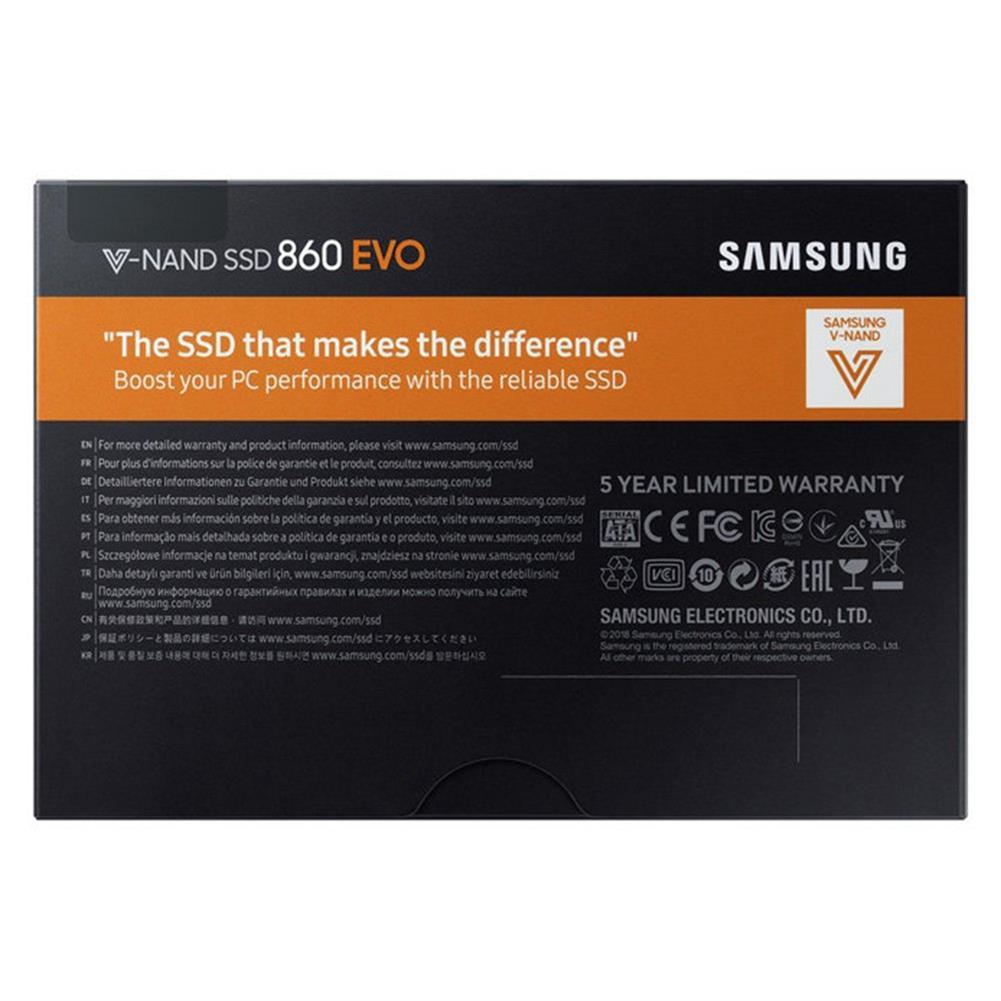 ssd-hdd-enclosures Original Samsung 860 EVO 500GB SATA3 SSD 2.5 Inch Read 550MB/s - Black Original Samsung 860 EVO 500GB SATA3 SSD 2 5 Inch Read 550MB s Black 5