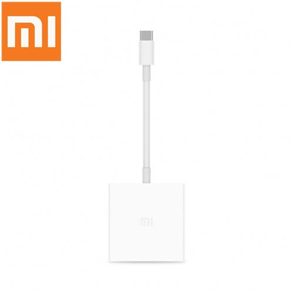 adapters-Original Xiaomi USB 3.1 Type-C to HDMI & USB 3.0 Converter 1080P 3D Video HDTV Adapter for Mi Notebook / Macbook / USB-C Devices - White-Original Xiaomi USB 3 1 Type C to HDMI amp USB 3 0 Converter 1080P 3D Video HDTV Adapter for Mi Notebook Macbook USB C Devices White