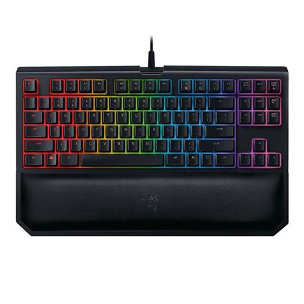 wired-keyboards Razer BlackWidow Tournament Edition Chroma V2 Wired Mechanical Gaming Keyboard RGB Tactile Clicky Razer Green Switches With Wrist Rest - Black Razer BlackWidow Tournament Edition Chroma V2 Wired Mechanical Gaming Keyboard RGB Tactile Clicky Razer Green Switches With Wrist Rest Black 1