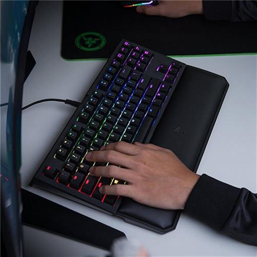 wired-keyboards Razer BlackWidow Tournament Edition Chroma V2 Wired Mechanical Gaming Keyboard RGB Tactile Clicky Razer Green Switches With Wrist Rest - Black Razer BlackWidow Tournament Edition Chroma V2 Wired Mechanical Gaming Keyboard RGB Tactile Clicky Razer Green Switches With Wrist Rest Black 3
