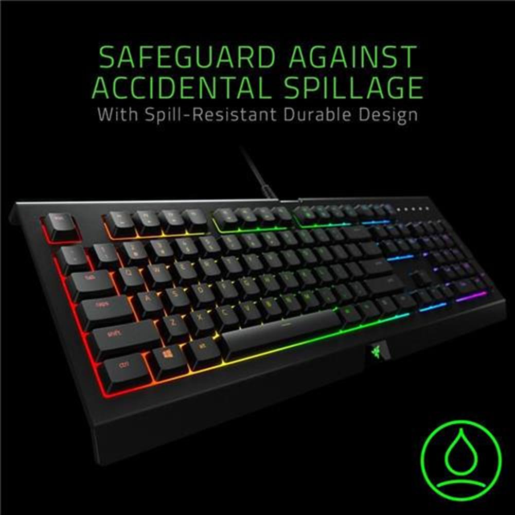 wired-keyboards Razer Cynosa Chroma Multi-color RGB Wired Gaming Keyboard Individual Backlit Keys Spill-resistant Durable Design US Layout - Black Razer Cynosa Chroma Multi color RGB Wired Gaming Keyboard Individual Backlit Keys Spill resistant Durable Design US Layout Black 2