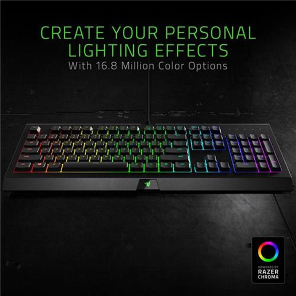 wired-keyboards Razer Cynosa Chroma Multi-color RGB Wired Gaming Keyboard Individual Backlit Keys Spill-resistant Durable Design US Layout - Black Razer Cynosa Chroma Multi color RGB Wired Gaming Keyboard Individual Backlit Keys Spill resistant Durable Design US Layout Black 4