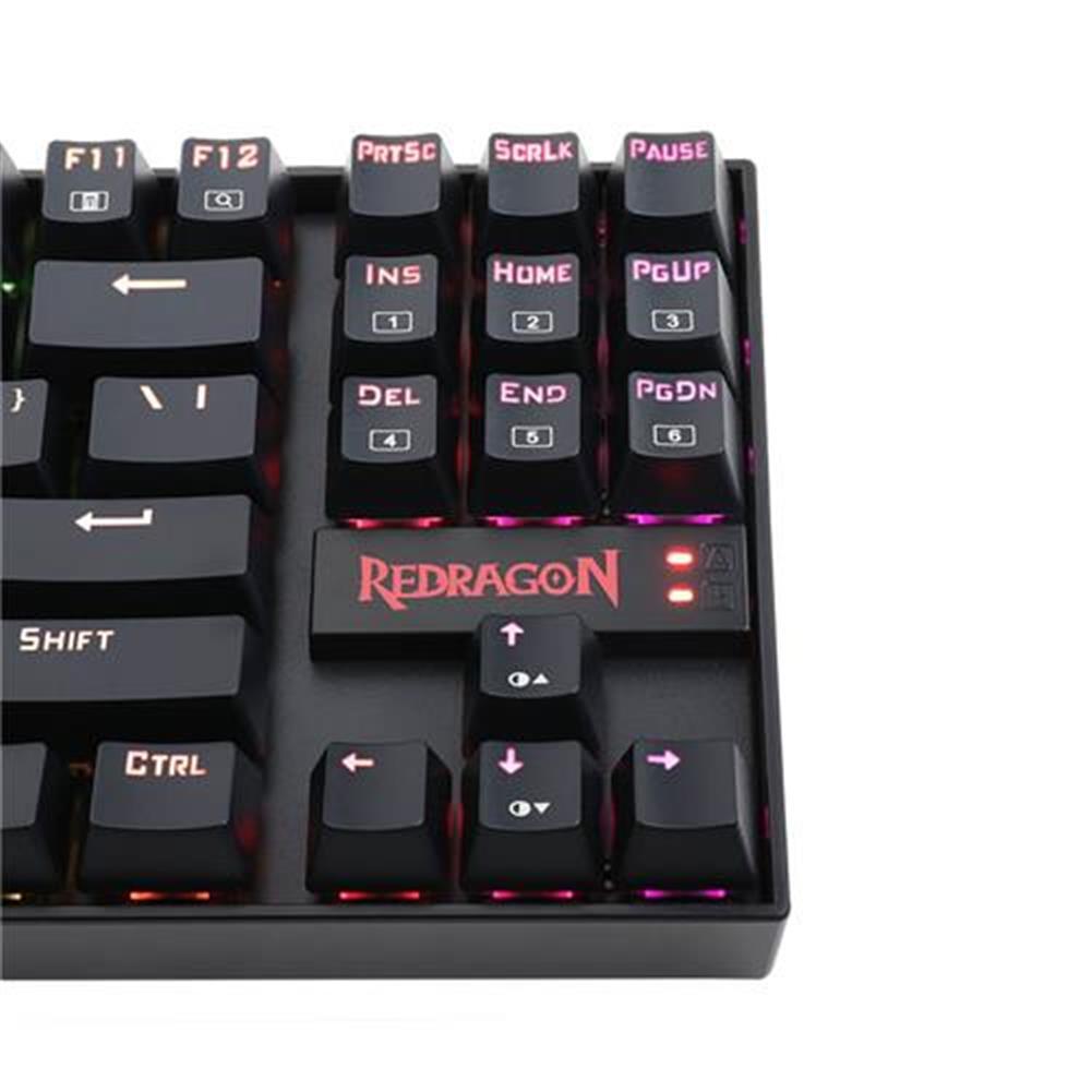 wired-keyboards Redragon K552-RGB KUMARA Gaming Keyboard RGB LED Backlit 87keys Blue Switch Mechanical - Black Redragon K552 RGB KUMARA Gaming Keyboard RGB LED Backlit 87keys Blue Switch Mechanical Black 6