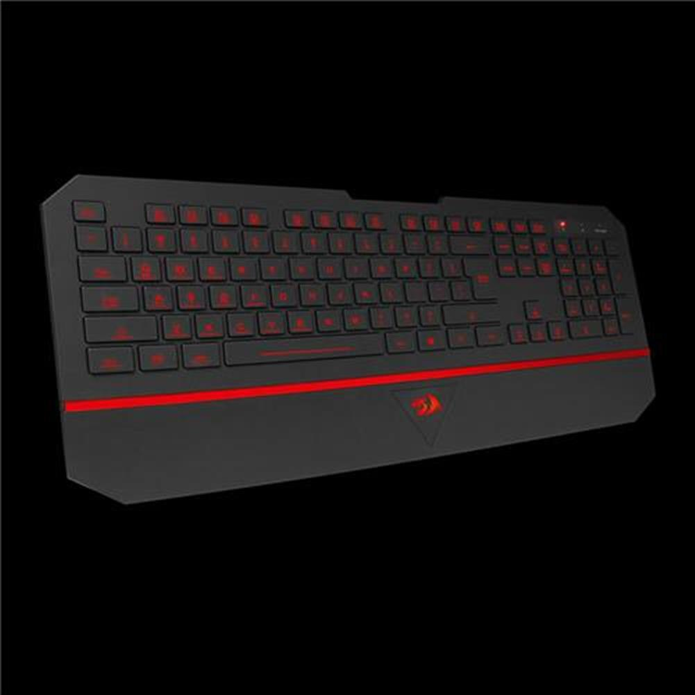 wired-keyboards Redragon Karura K502 Gaming Keyboard USB 7 Switchable Backlight Colors - Black + Red Redragon Karura K502 Gaming Keyboard USB 7 Switchable Backlight Colors Black Red 3