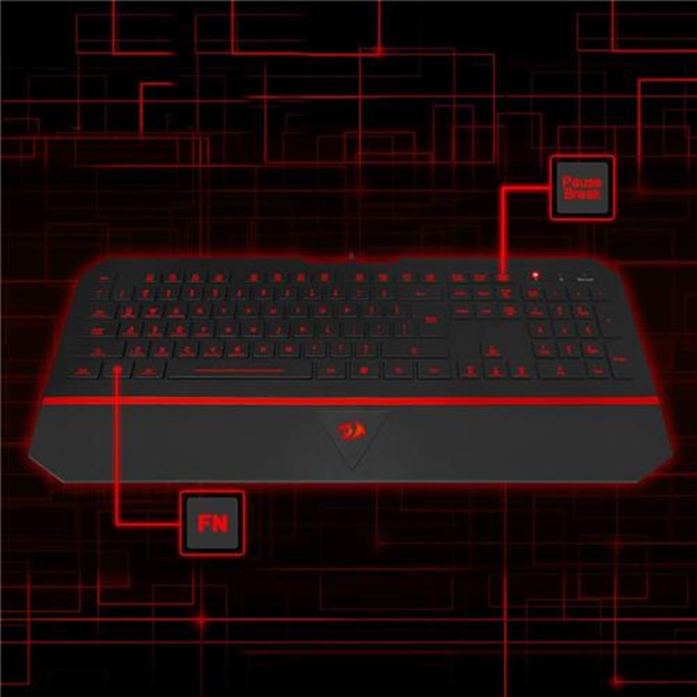 wired-keyboards Redragon Karura K502 Gaming Keyboard USB 7 Switchable Backlight Colors - Black + Red Redragon Karura K502 Gaming Keyboard USB 7 Switchable Backlight Colors Black Red 4