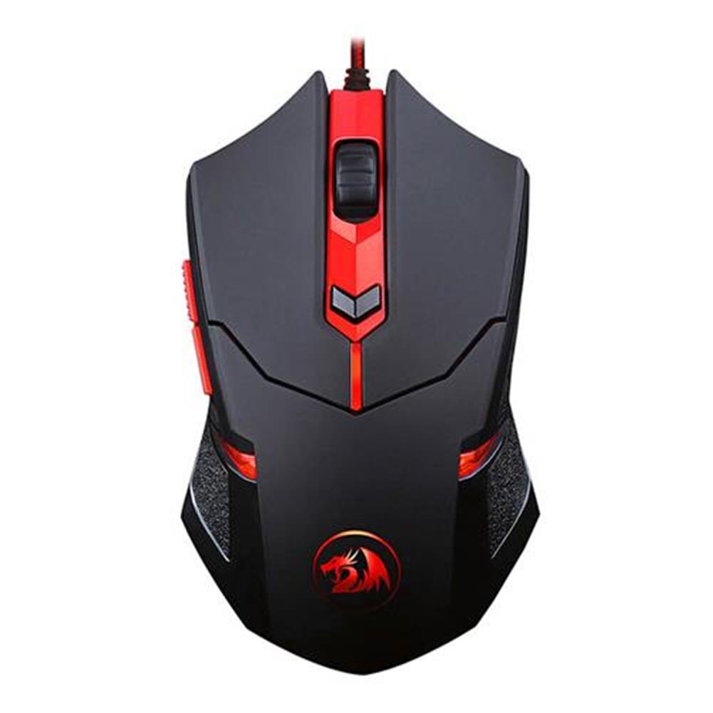 wired-mouse Redragon M601 Wired Gaming Mouse 3200 DPI 6 Buttons Ergonomic - Black + Red Redragon M601 Wired Gaming Mouse 3200 DPI 6 Buttons Ergonomic Black Red