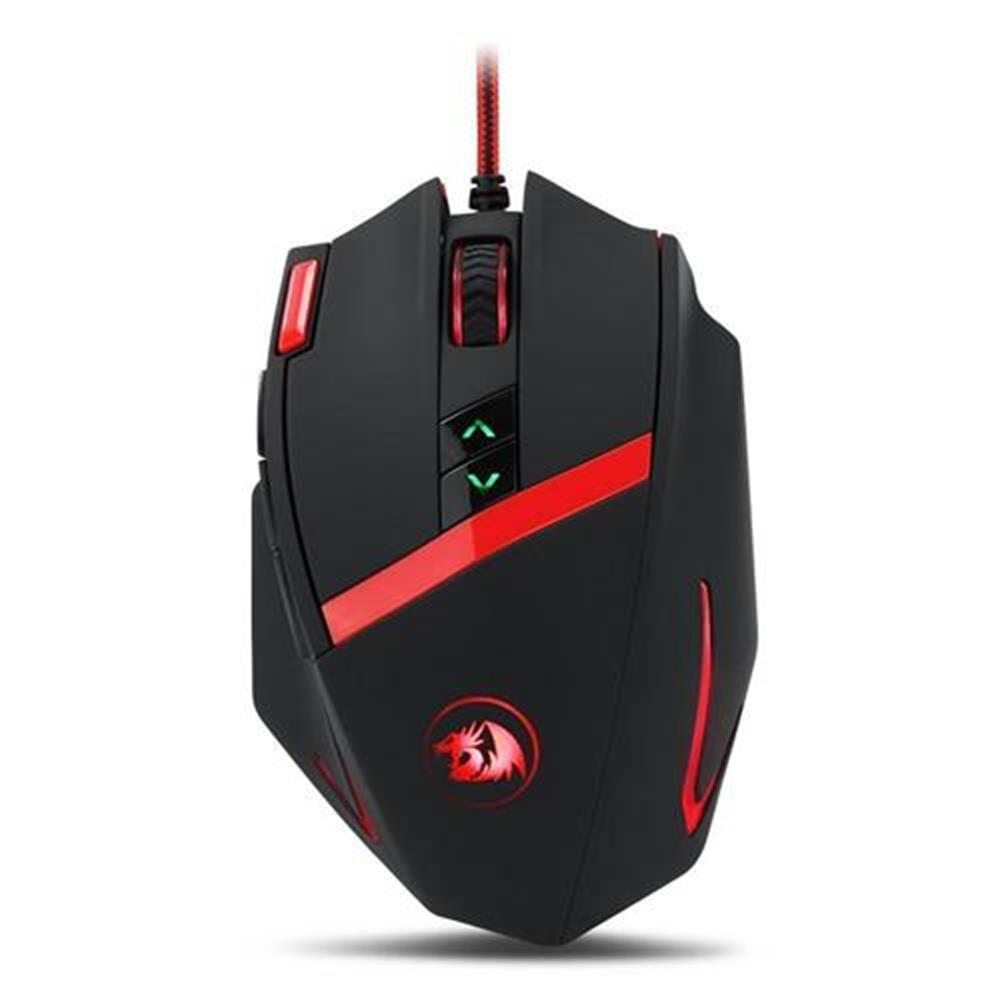 wired-mouse Redragon M801 Mammoth Gaming Mouse 16400 DPI 9 Programmable Buttons Laser for PC - Black Redragon M801 Mammoth Gaming Mouse 16400 DPI 9 Programmable Buttons Laser for PC Black