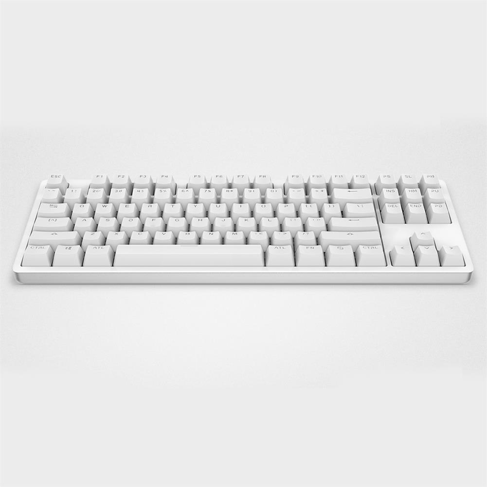 wired-keyboards XIAOMI Mi Mechanical Keyboard 87 Keys Gaming Keyboard with Cherry Red Switches and LED Backlit - White XIAOMI Mi Mechanical Keyboard 87 Keys Gaming Keyboard with Cherry Red Switches and LED Backlit White 5