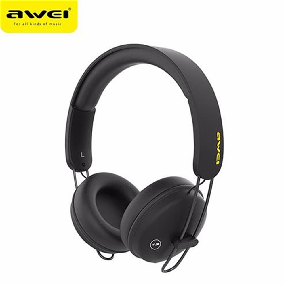 on-ear-over-ear-headphones AWEI A800BL Wireless Bluetooth Headphones with Mic Noise Reduction Headset - Black AWEI A800BL Wireless Bluetooth Headphones with Mic Noise Reduction Headset Black