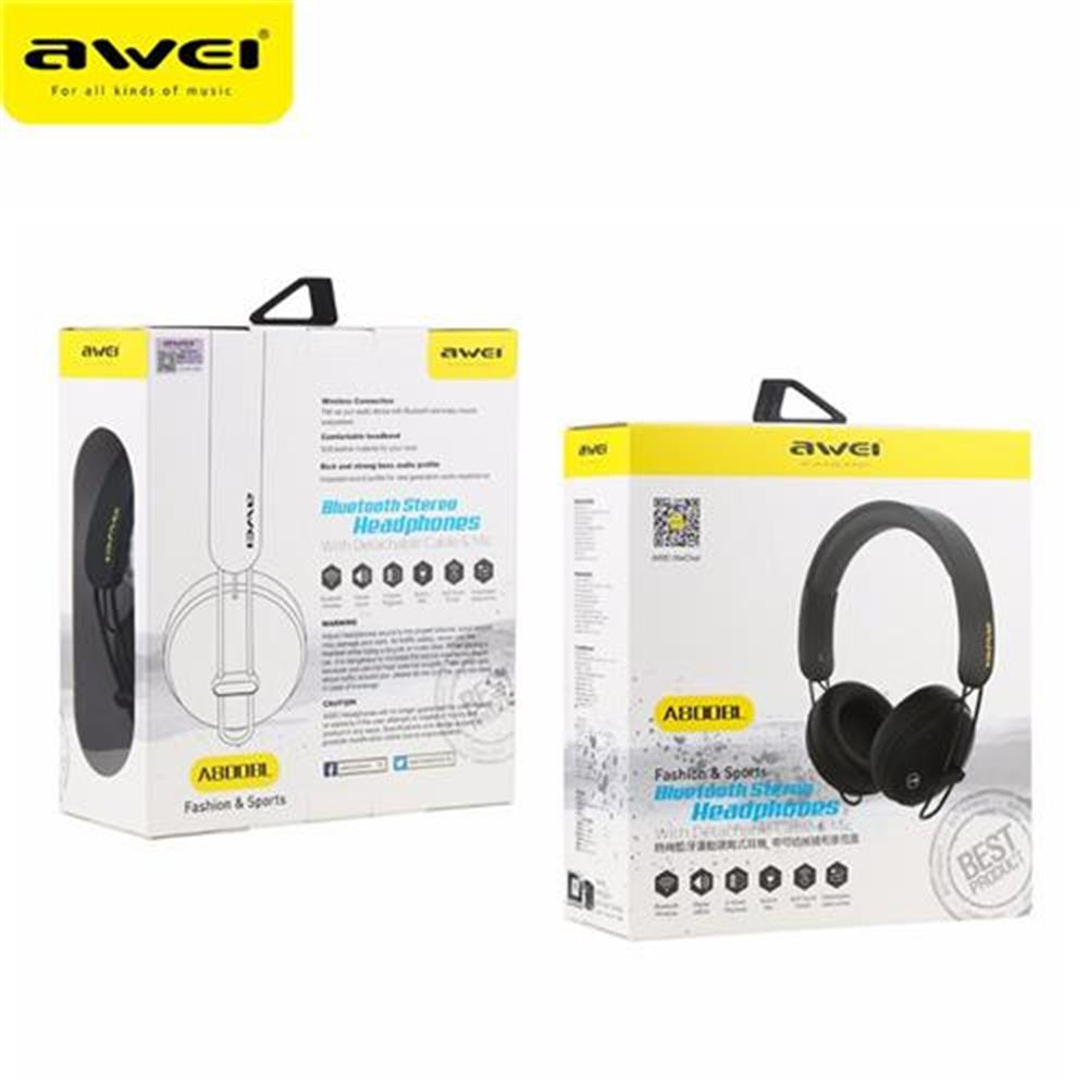 on-ear-over-ear-headphones AWEI A800BL Wireless Bluetooth Headphones with Mic Noise Reduction Headset - Black AWEI A800BL Wireless Bluetooth Headphones with Mic Noise Reduction Headset Black 1